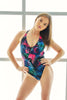 Tropicana Bodysuit - Blue Fern-Shark Polewear-Pole Junkie
