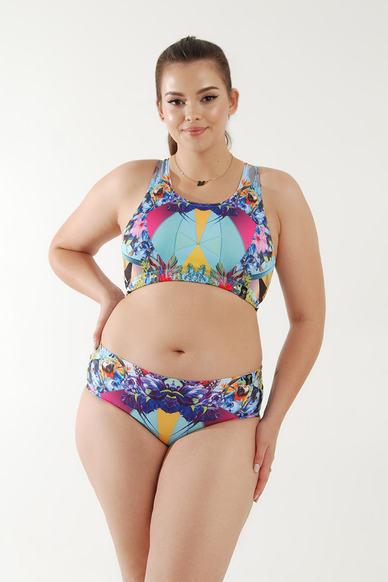 Pole Addict Openback Top - Geometric Floral-Pole Addict-Pole Junkie
