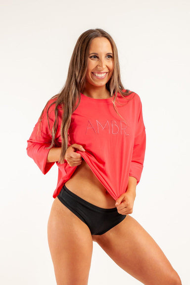 AMBR Designs Crew Long Sleeve Tee - Grace-AMBR Designs-Pole Junkie