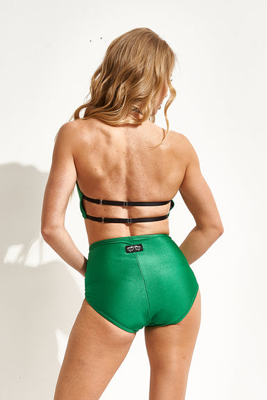 Shark Polewear High Waist Shorts - Emerald-Shark Polewear-Pole Junkie