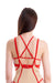 Hamade Activewear High Scoop Neck Top - Sand/Red-Hamade Activewear-Pole Junkie