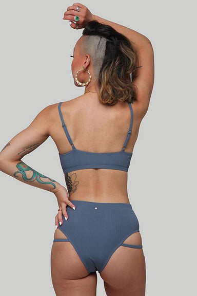 Creatures of XIX LA Bottoms - Ribbed Dark Grey-Creatures of XIX-Pole Junkie
