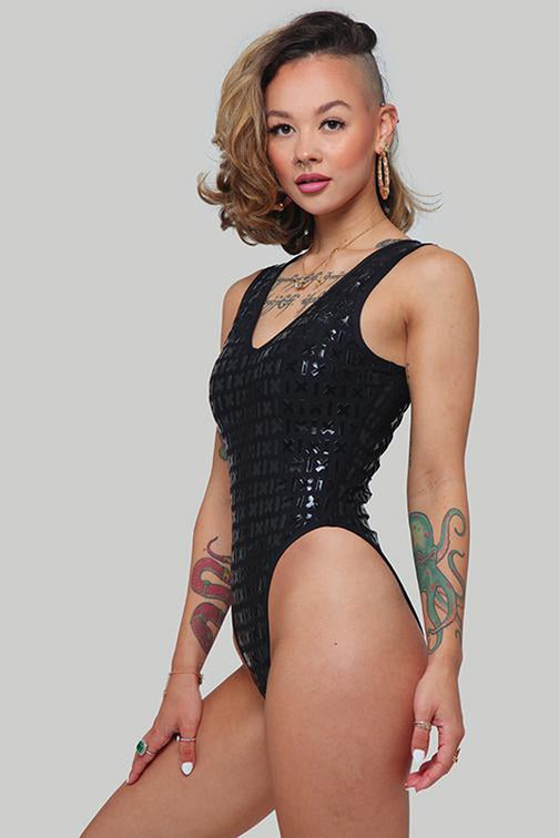 Creatures of XIX Gecko Grip Bodysuit - Black-Creatures of XIX-Pole Junkie