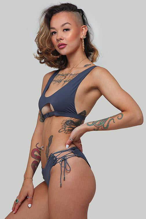 Creatures of XIX Sierra Top - Steel Blue-Creatures of XIX-Pole Junkie
