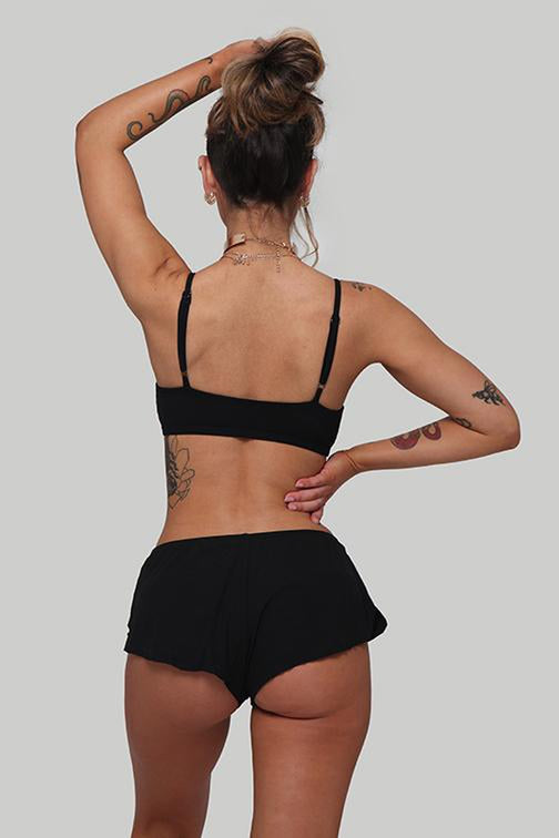 Creatures of XIX Dancer Shorts - Ribbed Black-Creatures of XIX-Pole Junkie