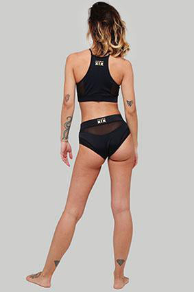 Creatures of XIX I S I S High Waisted Bottoms - Black with Black Mesh-Creatures of XIX-Pole Junkie