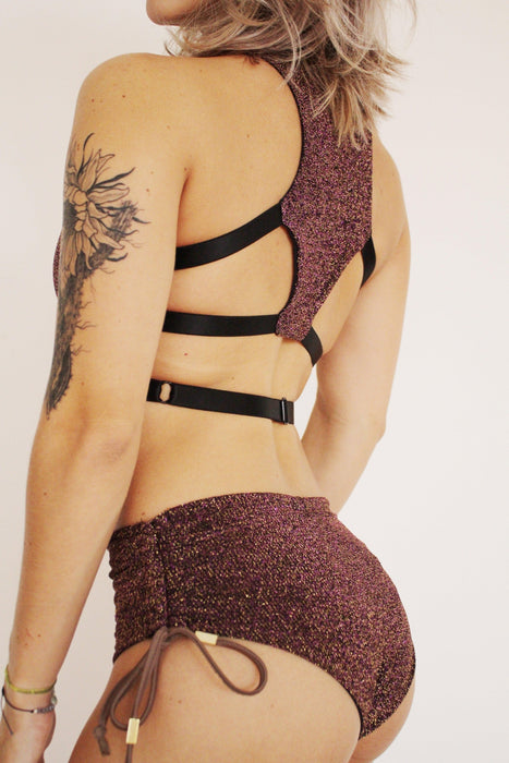 Charm Top - Burgundy-Sorte-Pole Junkie