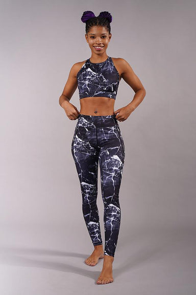 Off The Pole Iconic Leggings - Black Marble-Off The Pole-Pole Junkie