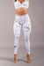 Off The Pole Iconic Leggings - White Marble-Off The Pole-Pole Junkie