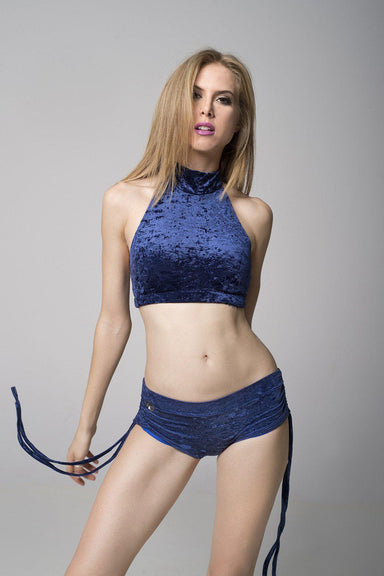 RAD Velvet Eve Top - Navy Blue-RAD-Pole Junkie