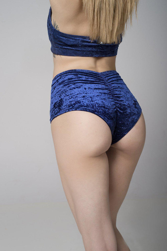 Velvet Eve Shorts - Navy Blue-RAD-Pole Junkie