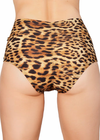 Leopard High Waisted Shorts-Cleo the Hurricane-Pole Junkie