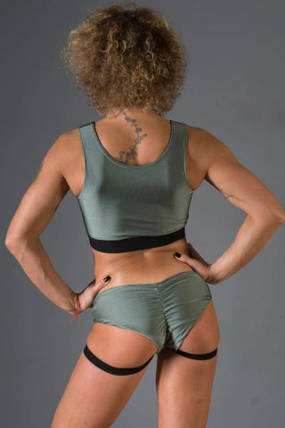 Lisa Shorts - Army Green-Paradise Chick-Pole Junkie