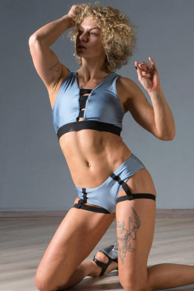 Paradise Chick Lisa Top - Steel Blue-Paradise Chick-Pole Junkie