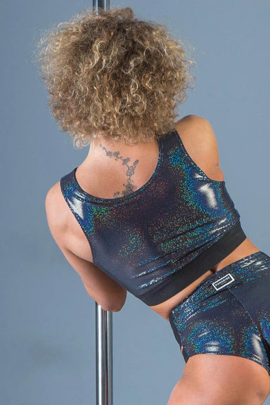 Paradise Chick Lisa Top - Black Sparkle-Paradise Chick-Pole Junkie