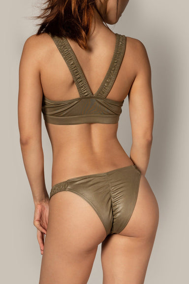 Riot Polewear Punch Drunk Top - Army Green-Riot Polewear-Pole Junkie