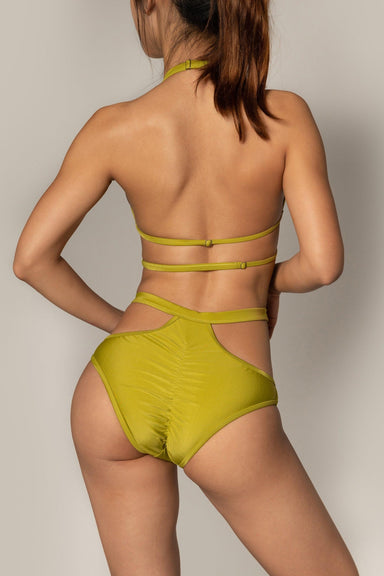 Riot Polewear Succubus Bottoms - Olive Green-Riot Polewear-Pole Junkie