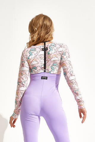 Long Sleeve Top - Unicorns-Shark Polewear-Pole Junkie