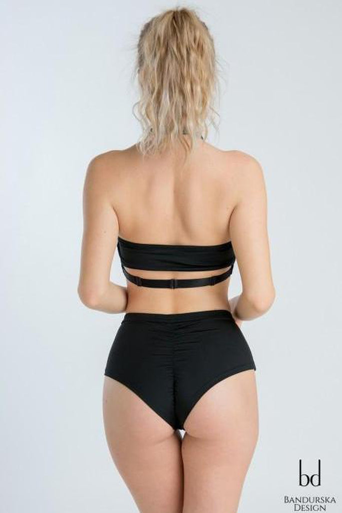 Classic High Waisted Shorts - Black-Bandurska-Pole Junkie