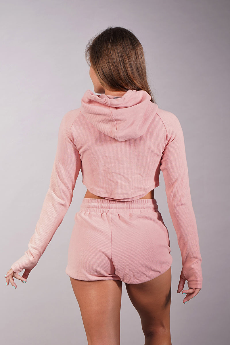 Off The Pole Lounge Shorts - Baby Pink-Off The Pole-Pole Junkie
