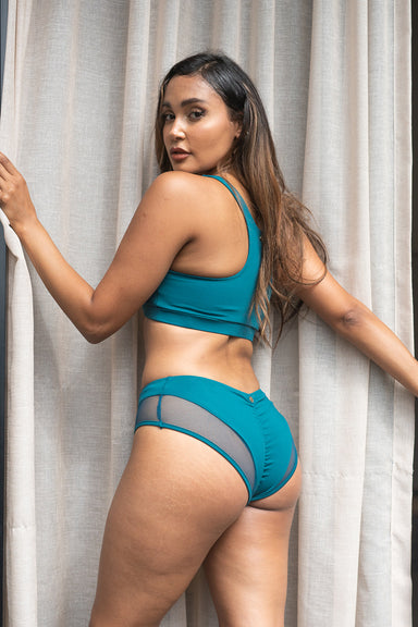 Lunalae Midnight Top - Recycled Teal-Lunalae-Pole Junkie