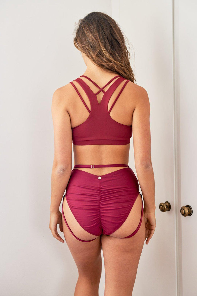 Lunalae Jaded Top - Wine-Lunalae-Pole Junkie