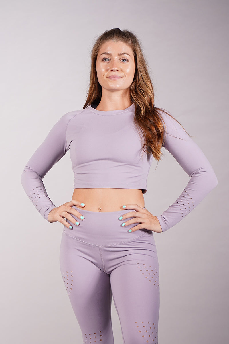 Off The Pole Luxe Crop Top - Dusty Lilac-Off The Pole-Pole Junkie