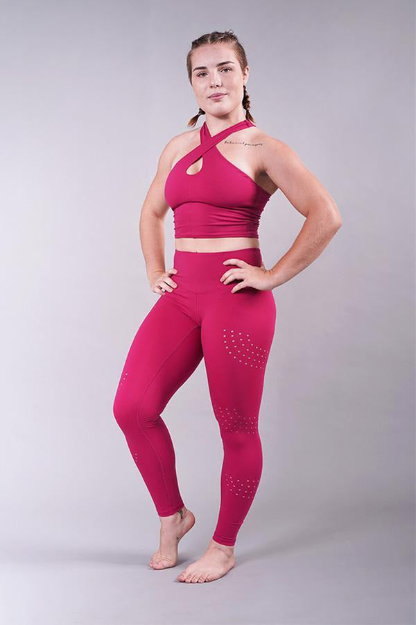Off The Pole Luxe Leggings - Fuchsia-Off The Pole-Pole Junkie