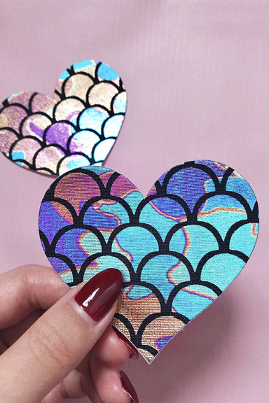 Naughty Thoughts Mermaid Heart Pasties (5 pairs)-Naughty Thoughts-Pole Junkie