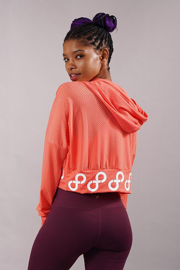 Off The Pole Mesh Hoodie 2.0 - Peach-Off The Pole-Pole Junkie