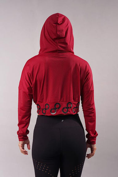 Off The Pole Mesh Hoodie 2.0 - Wine-Off The Pole-Pole Junkie