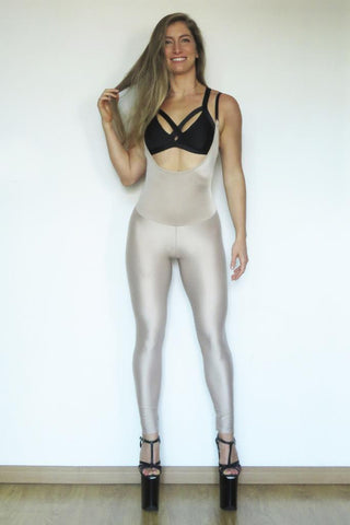 Second Skin Sling Leggings - Nude-Sorte-Pole Junkie