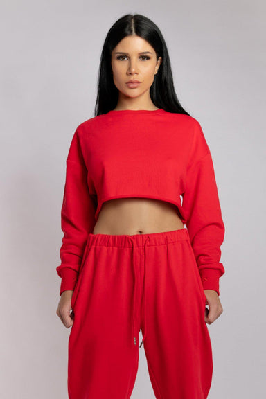 Creatures of XIX Oversized Cropped Jumper - Jalapeño-Creatures of XIX-Pole Junkie