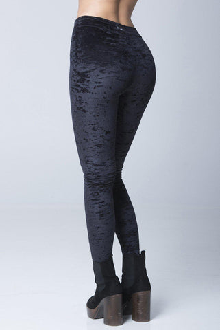 Velvet Stardust Leggings - Black-RAD-Pole Junkie