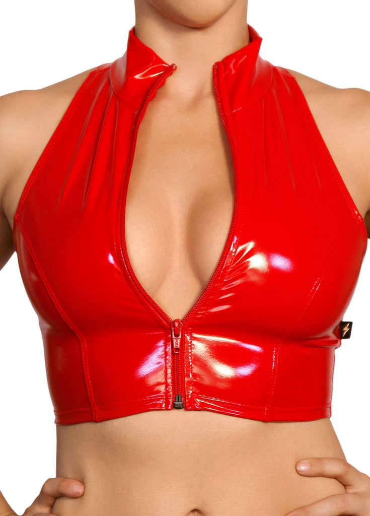Heroine Liquid Zip-Up Vest - Red-Cleo the Hurricane-Pole Junkie