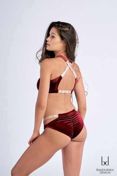 Ruby Velvet Top-Bandurska-Pole Junkie