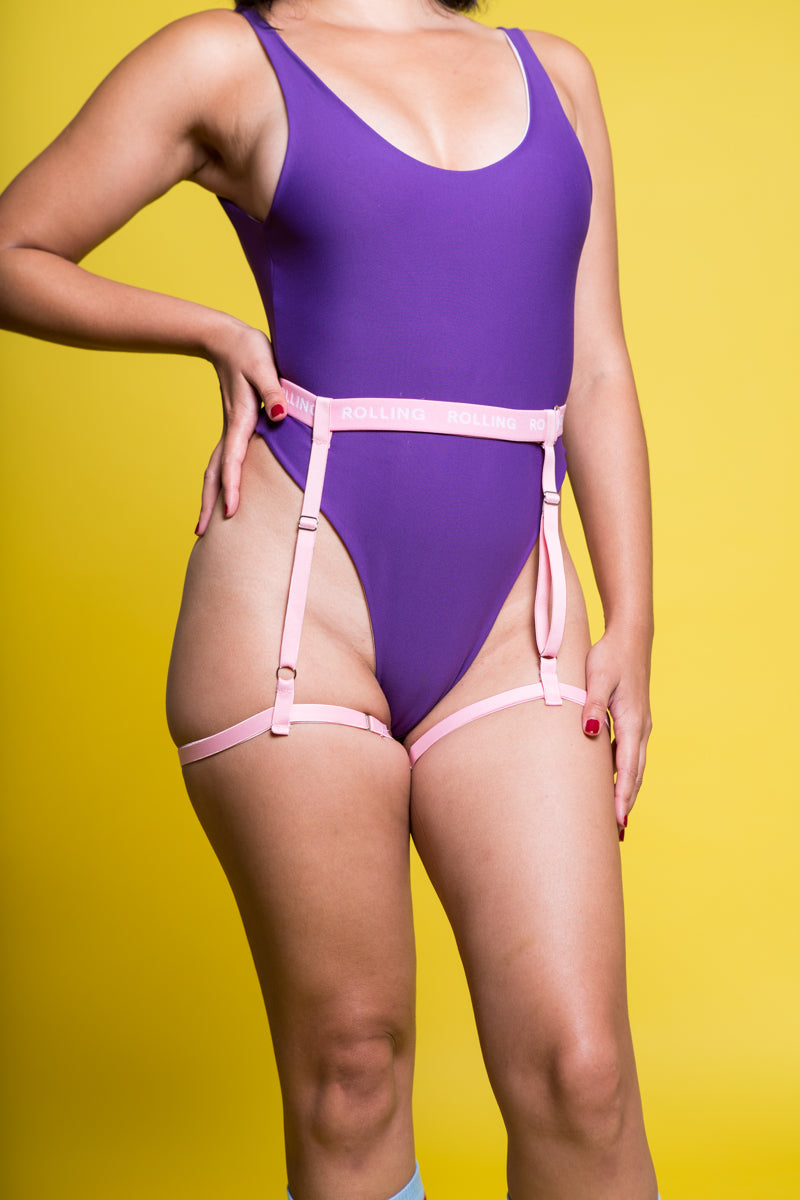 Rolling Bottom Harness - Rosa-Rolling-Pole Junkie
