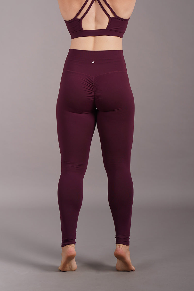 Off The Pole Scrunch Butt Leggings - Burgundy-Off The Pole-Pole Junkie