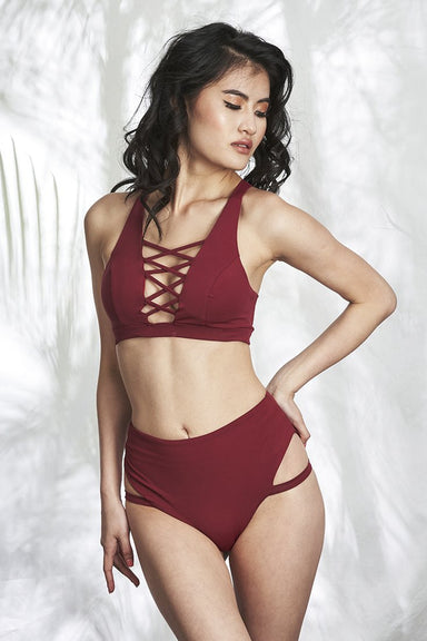 Alexi Top - Wine-Luna Pole Wear-Pole Junkie