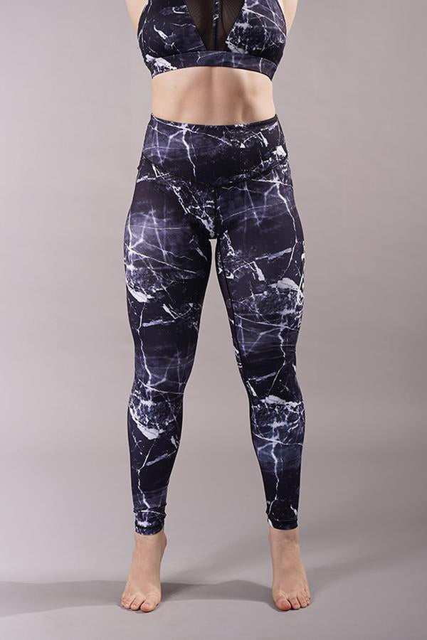 Off The Pole Signature Leggings - Black Marble-Off The Pole-Pole Junkie