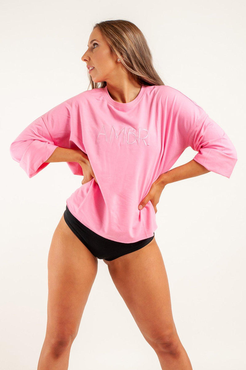 AMBR Designs Crew Long Sleeve Tee - Sophia-AMBR Designs-Pole Junkie