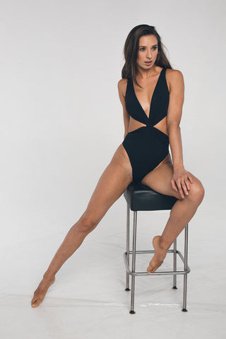 Twist Bodysuit - Black-Shark Polewear-Pole Junkie