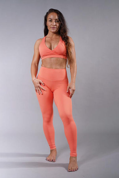 Off The Pole Lifestyle Leggings - Peach-Off The Pole-Pole Junkie