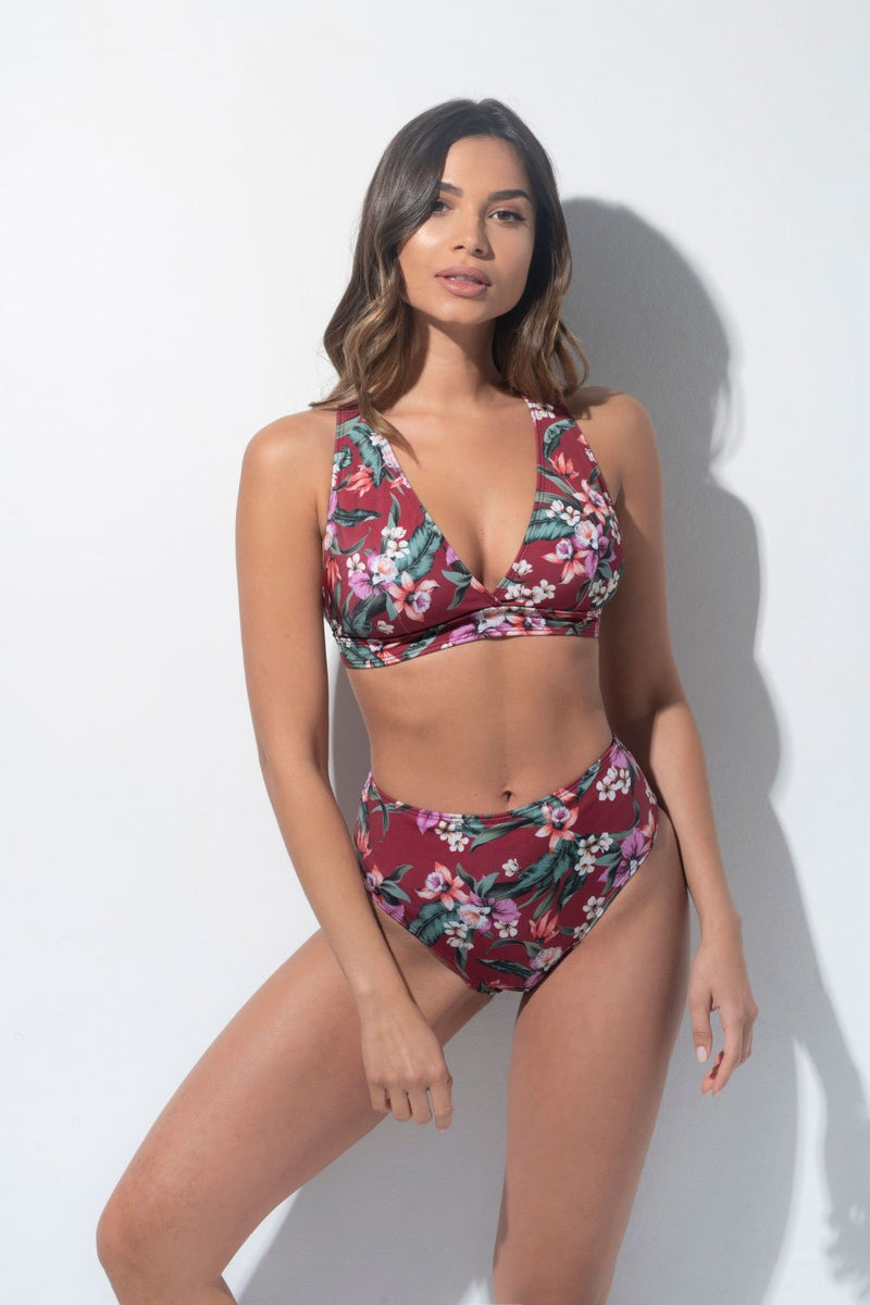 RAD Venus Top - Burgundy Exotic-RAD-Pole Junkie