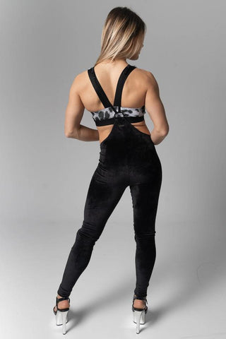 Womankini Velvet Leggings - Black-Paradise Chick-Pole Junkie
