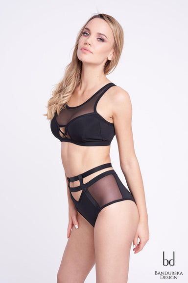 Zoe (Push-Up) Top - Black-Bandurska-Pole Junkie
