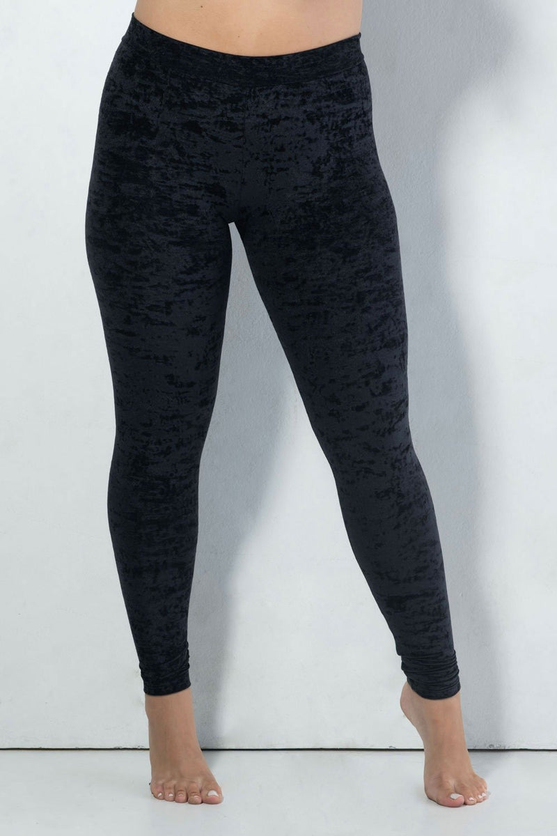 RAD Velvet Stardust Leggings - Black-RAD-Pole Junkie
