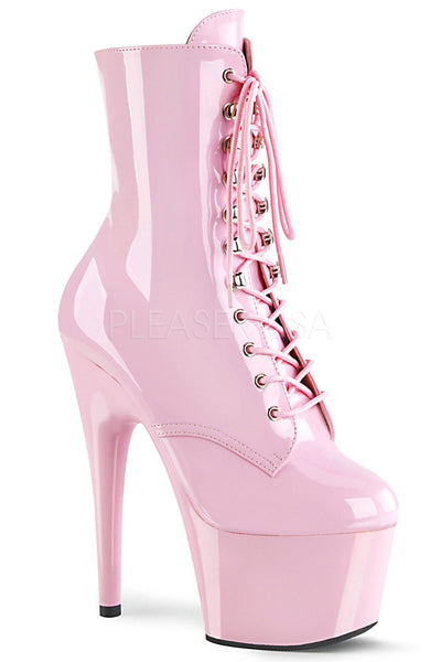 Adore-1020 7inch Pleaser Boots - Baby Pink Patent-Pleaser USA-Pole Junkie