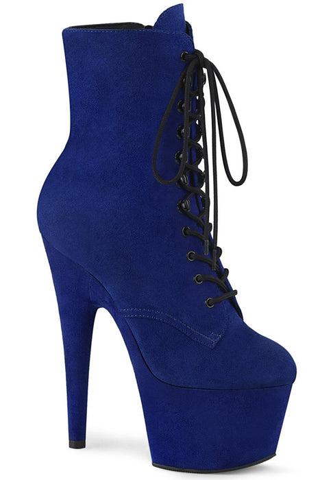 Adore-1020FS Faux Suede 7Inch Pleaser Boots - Royal Blue-Pleaser USA-Pole Junkie