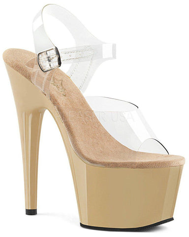Adore-708 7inch Pleasers - Nude-Pleaser USA-Pole Junkie